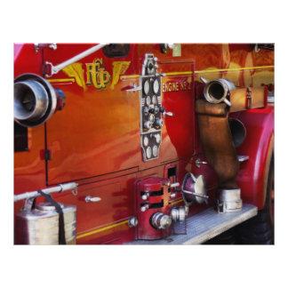 Bombero - motor ningunos 2 tarjetas informativas
