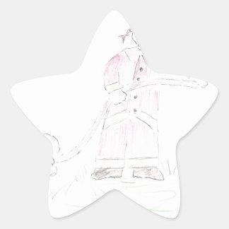 Bombero Pegatinas Forma De Estrella
