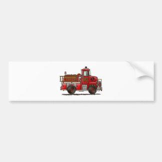 Bombero voluntario del coche de bomberos pegatina para coche