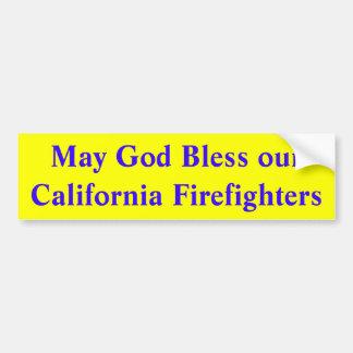 Bomberos de California Pegatina Para Coche