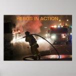 Bomberos: Héroes en poster de la acción