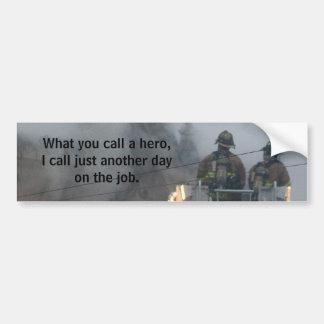 bomberos pegatina para coche
