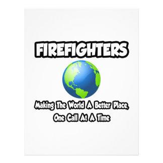 Bomberos… que hacen el mundo un mejor lugar tarjetas publicitarias