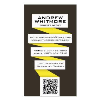 Bombilla abstracta que fluye - amarillo tarjeta de visita