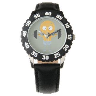 Bombilla de la aptitud con el peso relojes de pulsera