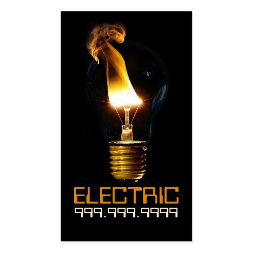 Bombilla de la electricidad eléctrica del tarjeta de negocio