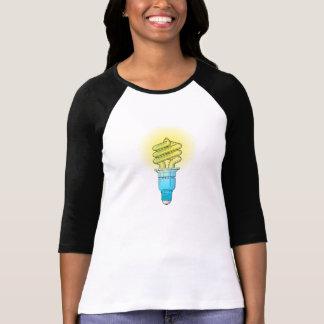 Bombilla fluorescente camiseta