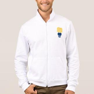 Bombilla fluorescente chaquetas deportivas imprimidas