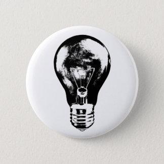 Bombilla negra y blanca - botón