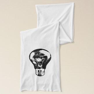 Bombilla negra y blanca - bufanda