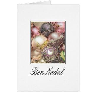 Bon Nadal - Occitan/tarjeta de Navidad catalana Tarjeta De Felicitación