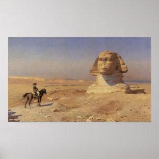 Bonaparte antes de la esfinge póster