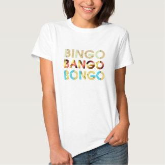 Bongo de Bango del bingo de la CAMISETA