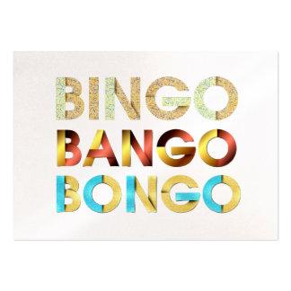 Bongo de Bango del bingo de la CAMISETA Tarjetas De Visita Grandes