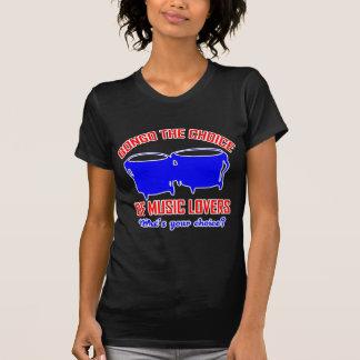 bongo la opción de amantes de la música camisetas