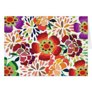 bonita floral del pintura tarjeta de felicitación