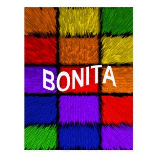 BONITA (nombres femeninos) Postal