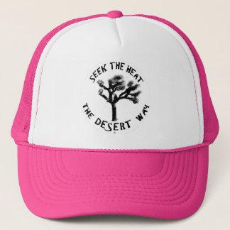 Bonito en gorra rosado de los camioneros