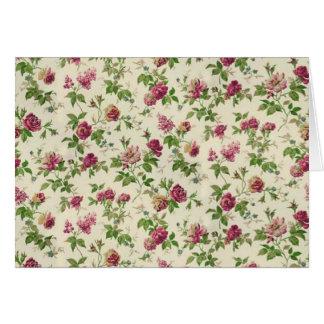 bonito floral del padrão tarjeta de felicitación