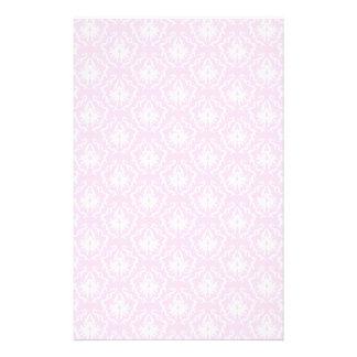 Bonito palidezca - el modelo rosado del damasco co folleto 14 x 21,6 cm