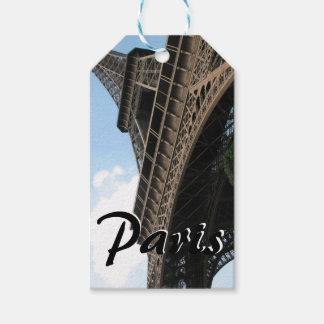 Bonjour del viaje europeo elegante de París Etiquetas Para Regalos