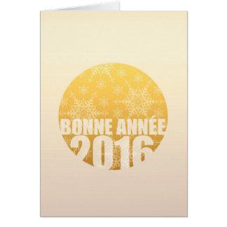 Bonne Année 2016 - tarjeta francesa del Año Nuevo