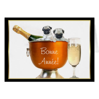 ¡Bonne Année! tarjeta de felicitación de los