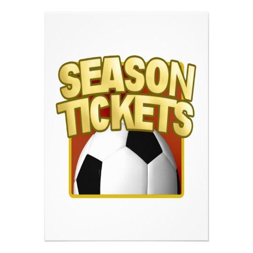 Bonos de temporada del fútbol anuncios