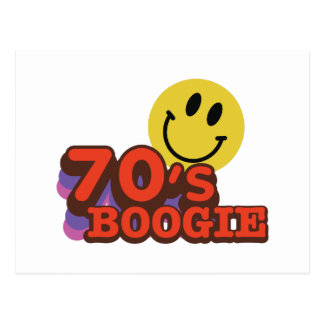 boogie de los años 70 postal