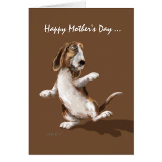 Boogie del Bassett - tarjeta del día de madre