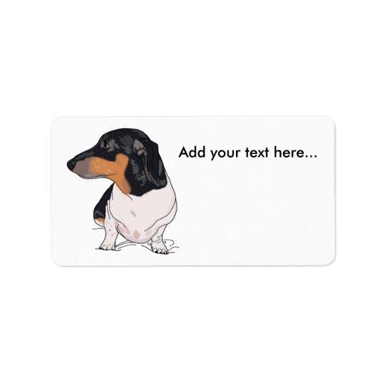 Boogie las etiquetas de dirección del dachshund 2