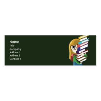Bookgirl - flaco tarjetas de visita mini