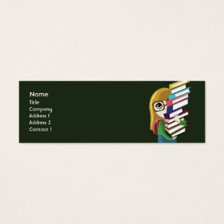 Bookgirl - flaco tarjeta de visita mini