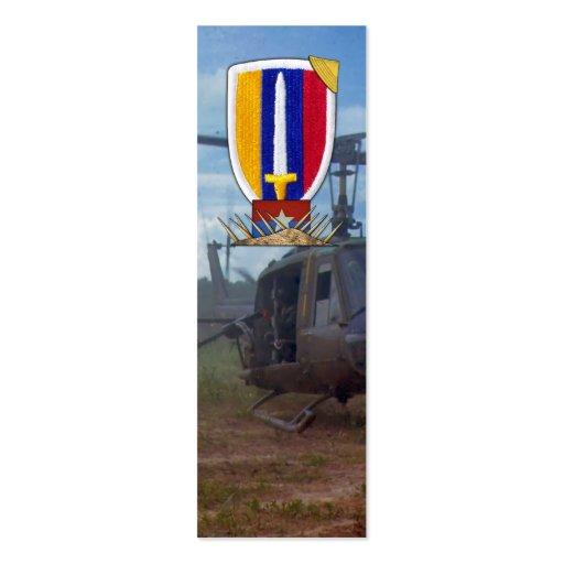Bookmarkers del remiendo de la guerra de USARV Vie Plantillas De Tarjetas Personales