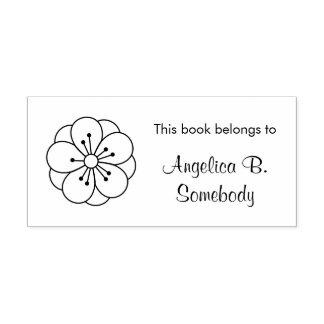 Bookplate de la flor de la flor de cerezo de sello de caucho