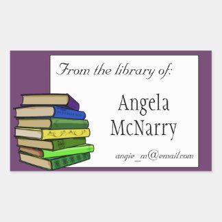 Bookplate de los libros o pegatina de la propiedad