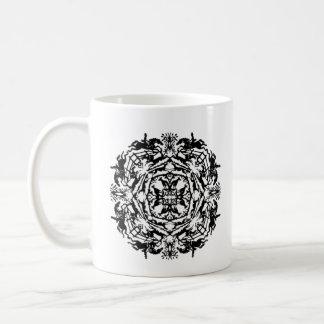 Bookplate ecuestre del caleidoscopio del vintage taza de café