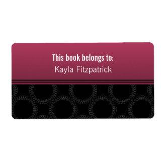 Bookplates clásico elegantes de los círculos etiqueta de envío