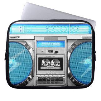 Boombox azul manga computadora