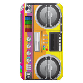 boombox retro del arenador del ghetto del equipo e iPod touch cárcasas