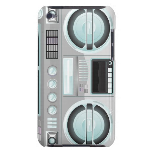 boombox retro del arenador del ghetto del equipo e barely there iPod protectores