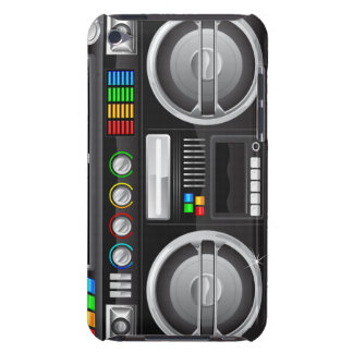 boombox retro del arenador del ghetto del equipo e iPod Case-Mate protector