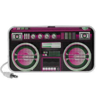 boombox rosado de neón retro del arenador del ghet portátil altavoces