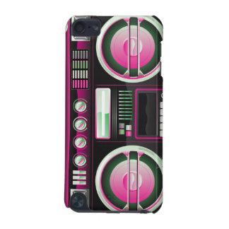 boombox rosado de neón retro del arenador del ghet