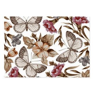 borboletas e Flores de COM del padrão Tarjetas De Visita Grandes