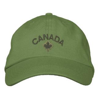 Bordado canadiense Canadá de la hoja de arce Gorras Bordadas