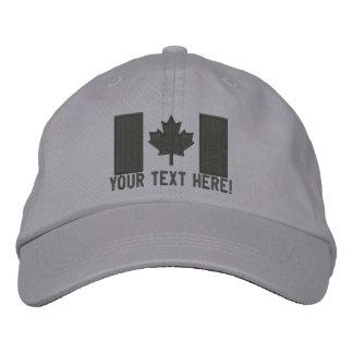 Bordado canadiense grande personalizado de la gorra bordada