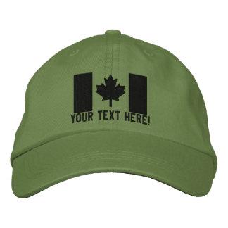 Bordado canadiense grande personalizado de la gorra de béisbol