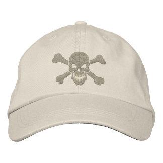 Bordado clásico del cráneo de la bandera pirata de gorras de beisbol bordadas
