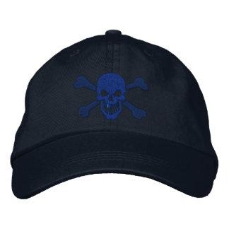 Bordado clásico del cráneo de la bandera pirata de gorra de beisbol bordada